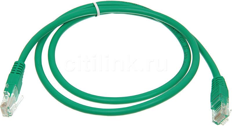 Патч-корд  литой (molded), cat.5E, 1м, 1 шт,  зеленый