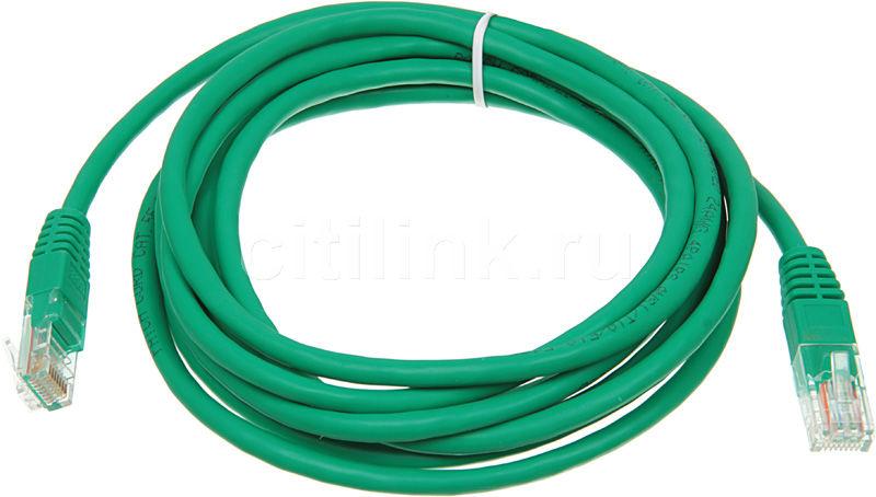 Патч-корд  литой (molded), cat.5E, 3м, 1 шт,  зеленый