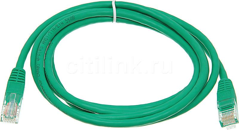 Патч-корд  литой (molded), cat.5E, 2м, 1 шт,  зеленый