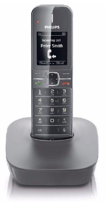 Радиотелефон PHILIPS CD4801G,  серый [cd4801g/ru]
