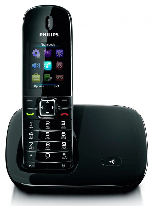 Радиотелефон PHILIPS CD6801B,  черный [cd6801b/ru]