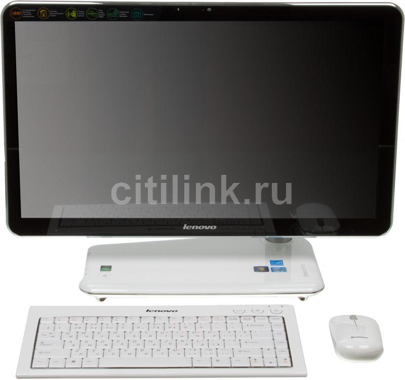 Моноблок LENOVO IdeaCentre A320G, Intel Core i3 2310M, 2Гб, 500Гб, Intel HD Graphics, DVD-RW, Windows 7 Home Basic, белый и черный [57300749]