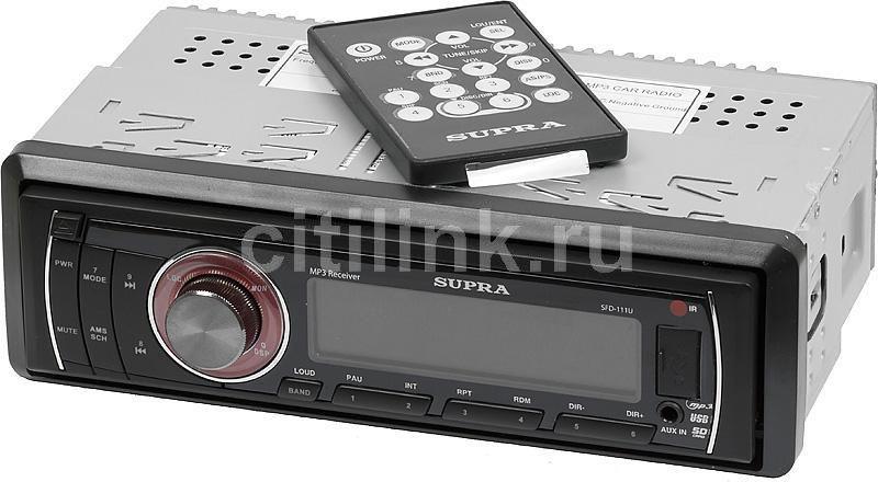 Автомагнитола SUPRA SFD-111U,  USB,  SD/MMC
