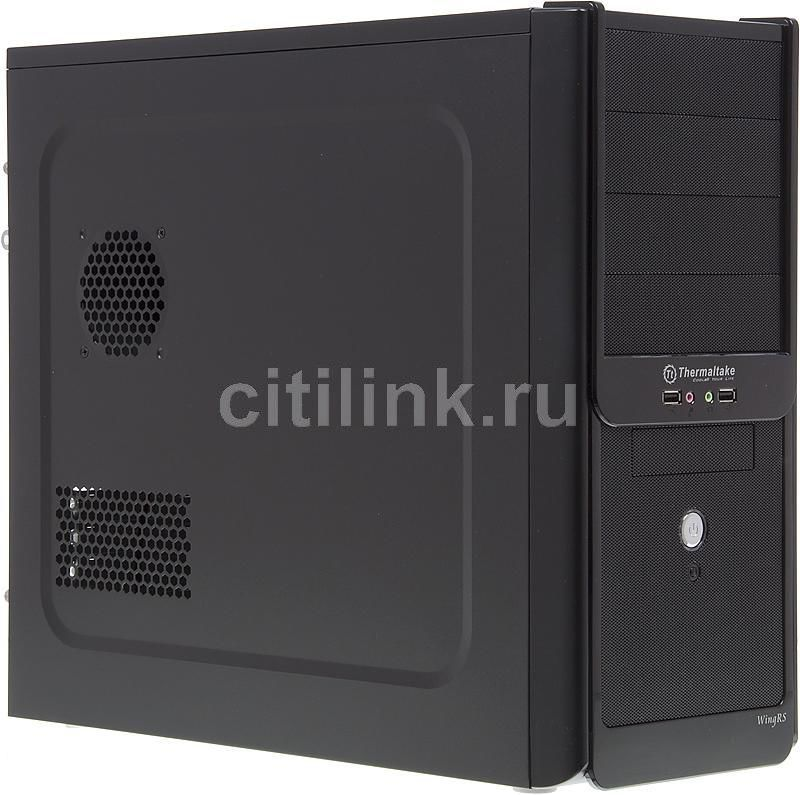 Корпус ATX THERMALTAKE Wing RS VJ60001N2Z, Midi-Tower, без БП,  черный