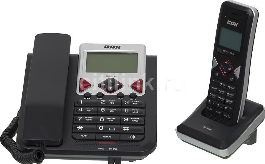 Радиотелефон BBK BKD-519RU,  черный [bkd-519 ru b]