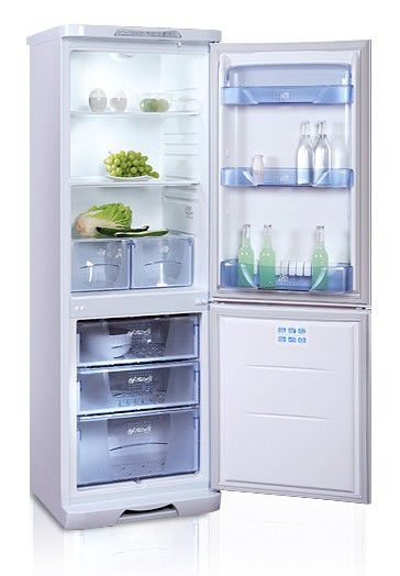 Холодильник БИРЮСА 133L,  двухкамерный,  белый