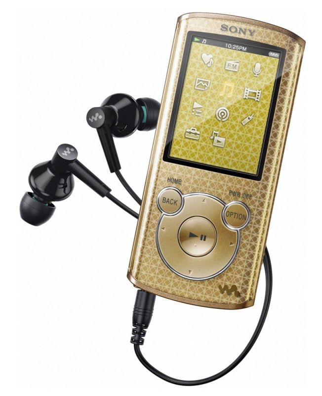 MP3 плеер SONY NWZ-E463N flash 4Гб золотистый [nwze463n]