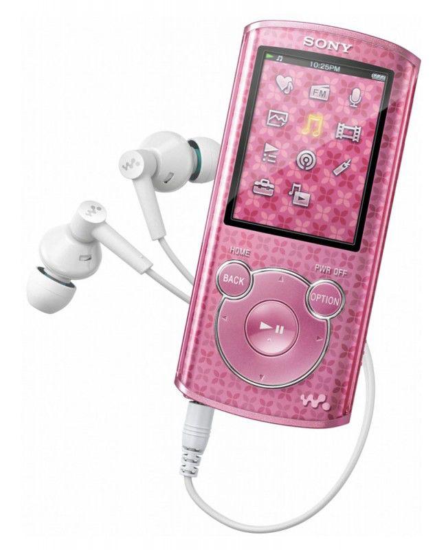 MP3 плеер SONY NWZ-E463P flash 4Гб розовый [nwze463p]