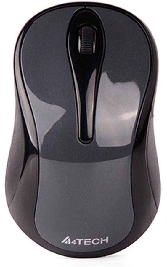 Мышь A4 V-Track G3-280N-1 оптическая беспроводная USB, серый и черный