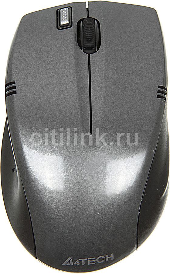 Мышь A4 V-Track G9-540F-1 оптическая беспроводная USB, серый и черный