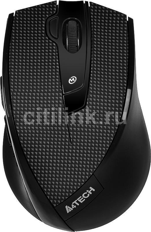 Мышь A4 V-Track G10-730F-1, оптическая, беспроводная, USB, черный