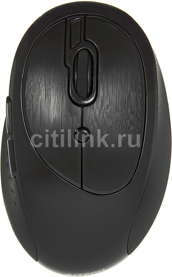 Мышь A4 V-Track G10-800F-1 оптическая беспроводная USB, черный