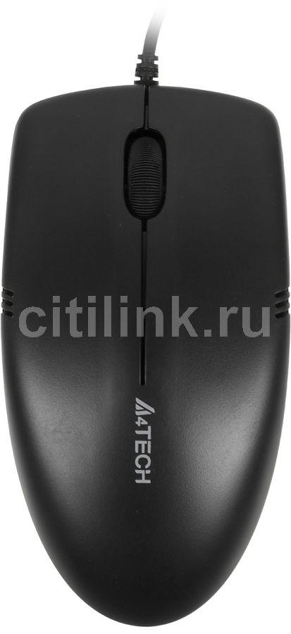 Мышь A4 V-Track Padless OP-530NU оптическая проводная USB, черный