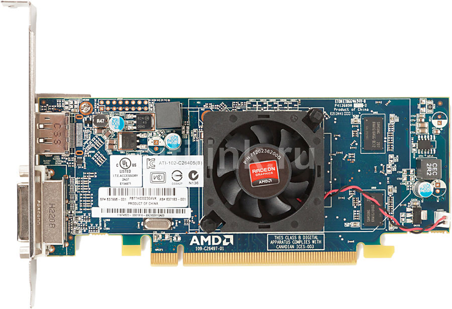 Видеокарта HP HD 6450,  QM229AA,  512Мб, DDR3, Low Profile,  Ret