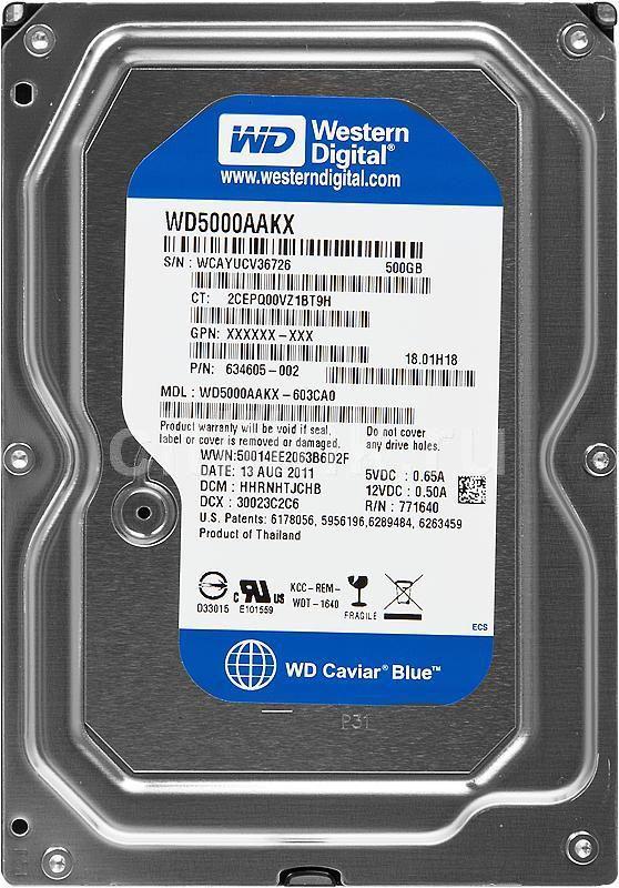 Жесткий диск HP QK554AA,  500Гб,  HDD,  SATA III,  3.5