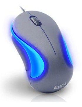 Мышь A4 Q3-320-4 оптическая проводная USB, серебристый и черный