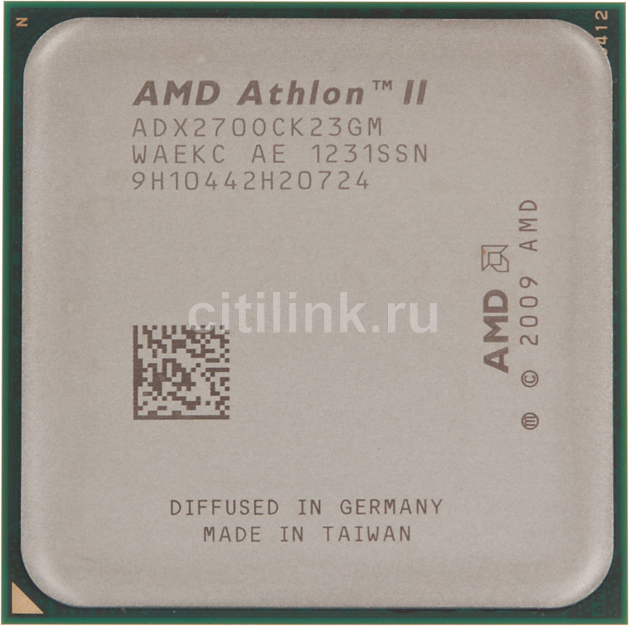 Процессор AMD Athlon II X2 270, SocketAM3 BOX [adx270ocgmbox]