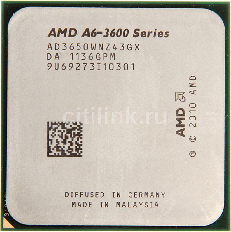 Процессор AMD A6 3650, SocketFM1 OEM [ad3650wnz43gx]