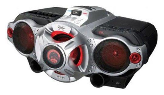Аудиомагнитола SONY CFD-RG880CP,  серебристый и черный