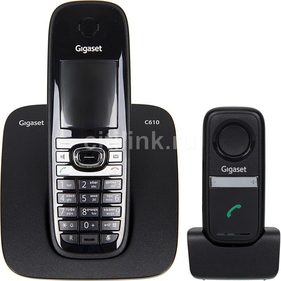 Радиотелефон GIGASET C610,  черный [c610 & l410]