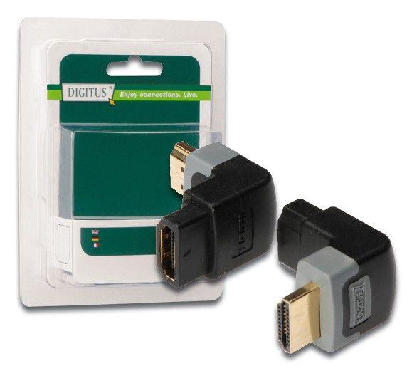 Адаптер угловой Digitus DB-271277 HDMI 19m - HDMI 19F 90 градусов