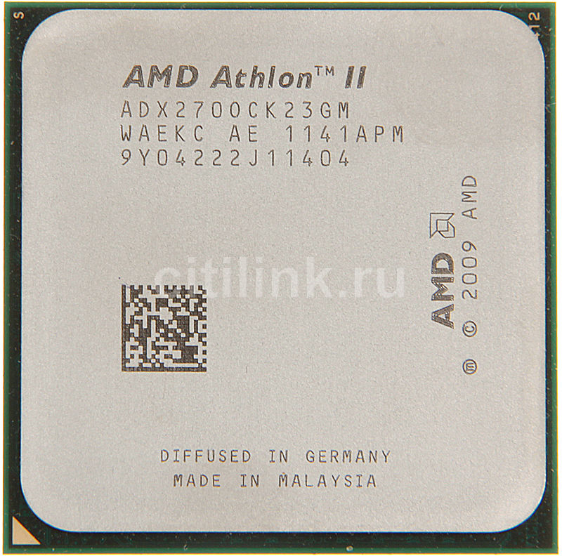 Процессор AMD Athlon II X2 270, SocketAM3 OEM [adx270ock23gm]