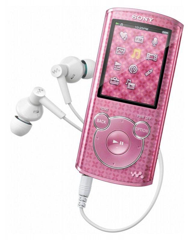 MP3 плеер SONY NWZ-E464 flash 8Гб розовый [nwze464fp]