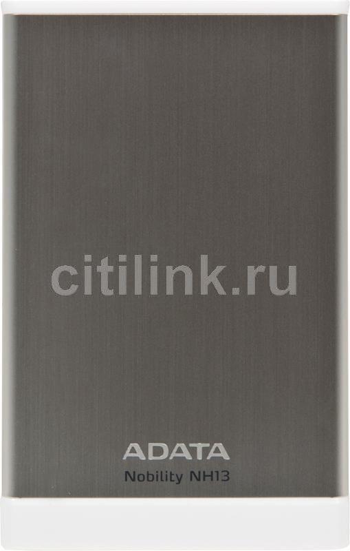 Внешний жесткий диск A-DATA Nobility NH13, 1Тб, серебристый [anh13-1tu3-csv]