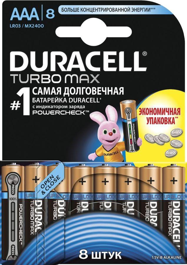 Батарея DURACELL Turbo MAX LR03-8BL,  8 шт. AAA
