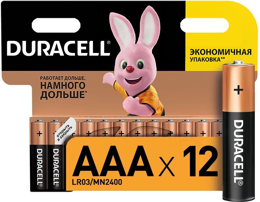 Батарея DURACELL Basic LR03-12BL,  12 шт. AAA
