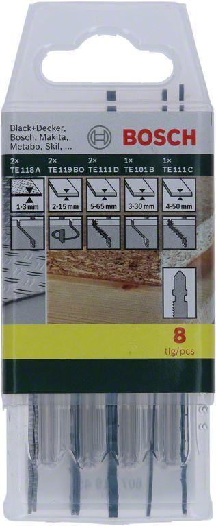 Набор пилок BOSCH 2607019458,  универсальные, 8шт
