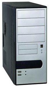 Корпус ATX FOXCONN TLA-491, 400Вт,  черный и серебристый
