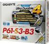 Материнская плата GIGABYTE GA-P61-S3-B3 LGA 1155, ATX, Ret вид 6