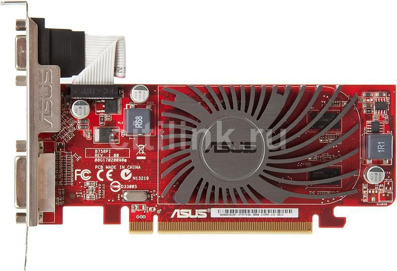 Видеокарта ASUS AMD  Radeon HD 5450 ,  512Мб, DDR3, Low Profile,  Ret [eah5450 silent/di/512d3(lp)]