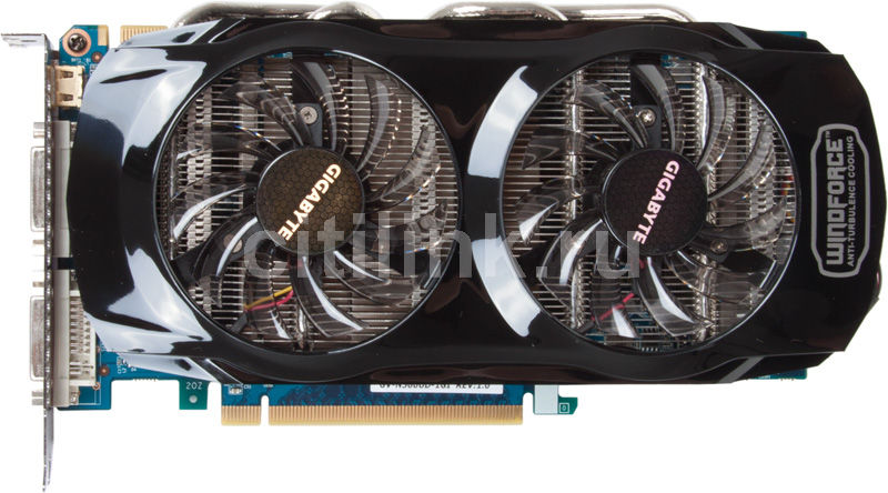 Видеокарта GIGABYTE GeForce GTX 560Ti,  1Гб, GDDR5, Ret [gv-n560ud-1gi]