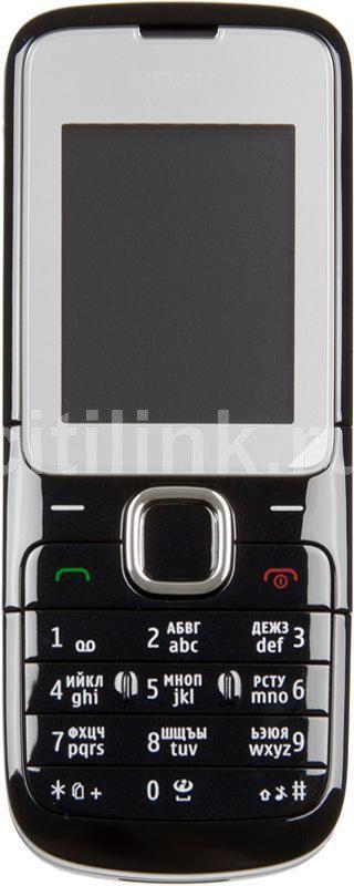 Мобильный телефон NOKIA C2-00  черный глянец