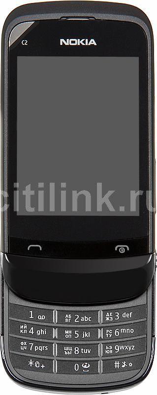 Мобильный телефон NOKIA C2-03  черный хром