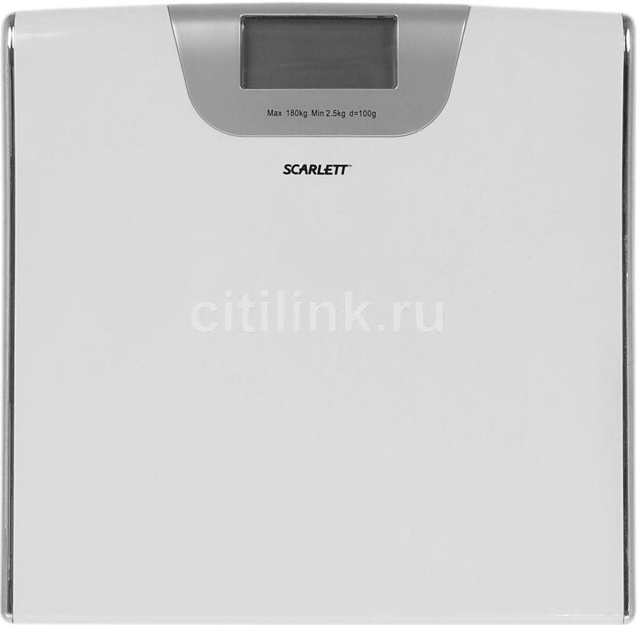 Весы SCARLETT SC213, до 180кг, цвет: белый