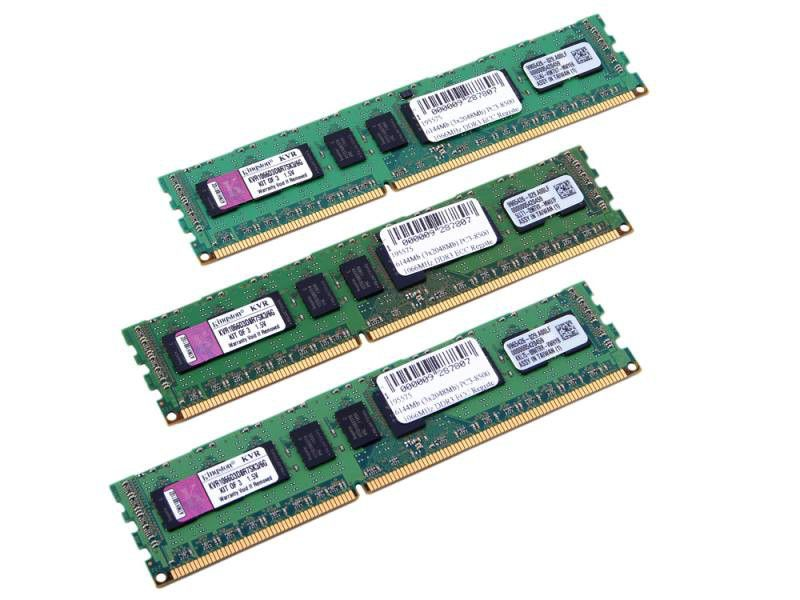 Память DDR3 6Gb 1066MHz Kingston (KVR1066D3D8R7SK3/6G) Kit of 3 OEM