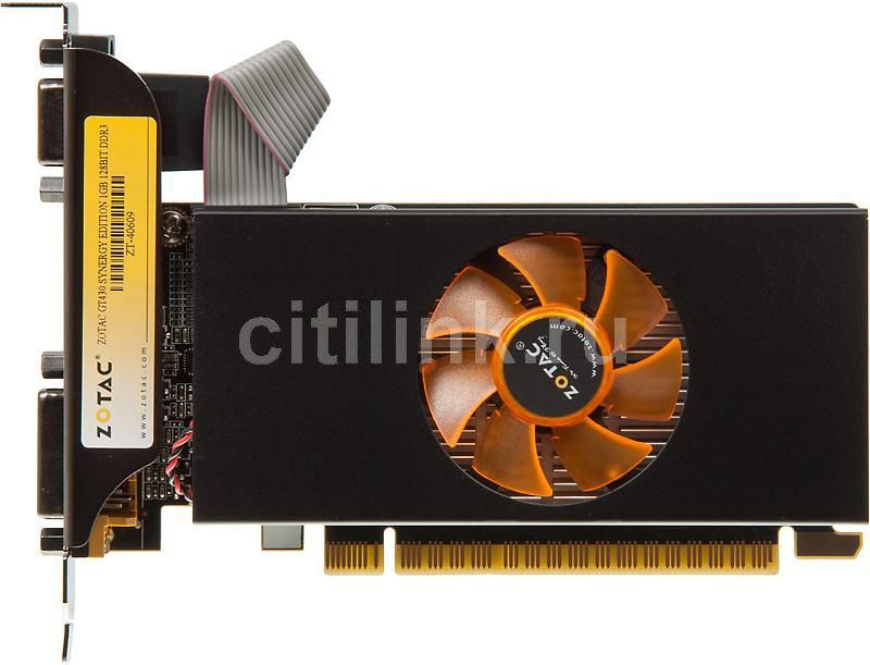 Видеокарта ZOTAC GeForce GT 430 LP Synergy, ZT-40609-10L,  1Гб, DDR3, Low Profile,  Ret