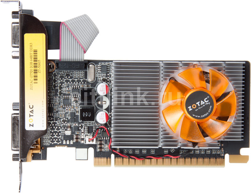 Видеокарта ZOTAC GeForce GT 520 Synergy, ZT-50605-10L,  2Гб, DDR3, Low Profile,  Ret