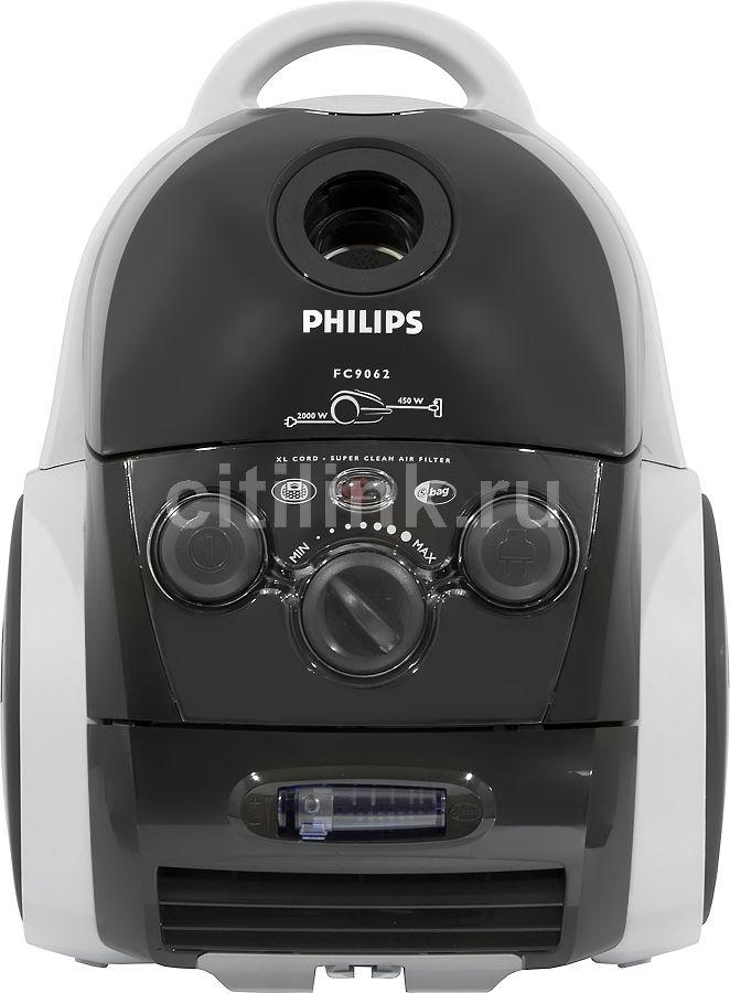 Пылесос PHILIPS FC9062/01, 2000Вт, черный
