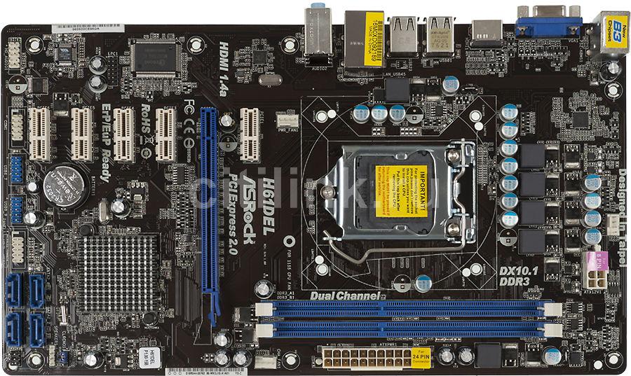 Asrock H61DEL Intel VGA Driver PC