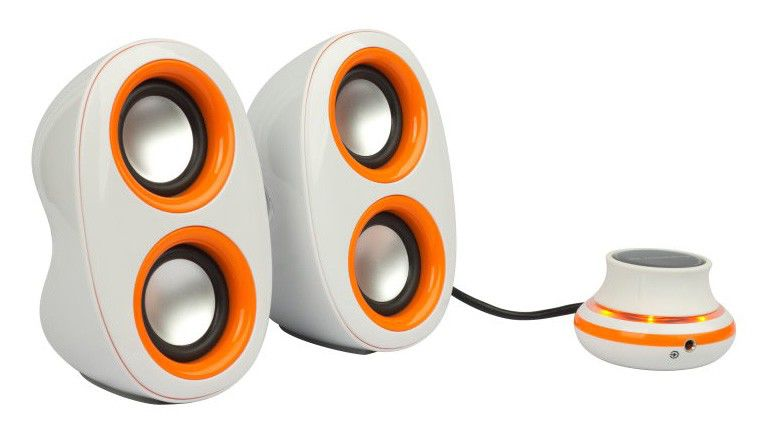 Колонки JETBALANCE JB-160,  белый,  оранжевый [jb-160 wo]
