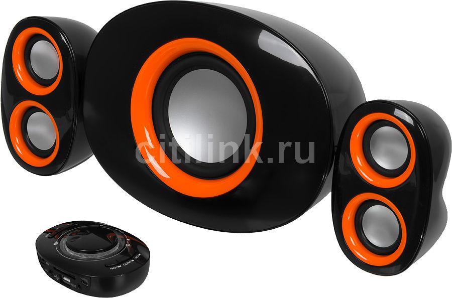 Колонки JETBALANCE JB-415,  черный,  оранжевый [jb-415 bo]