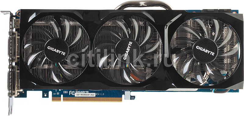 Видеокарта GIGABYTE GeForce GTX 580,  3Гб, GDDR5, Ret [gv-n580ud-3gi]