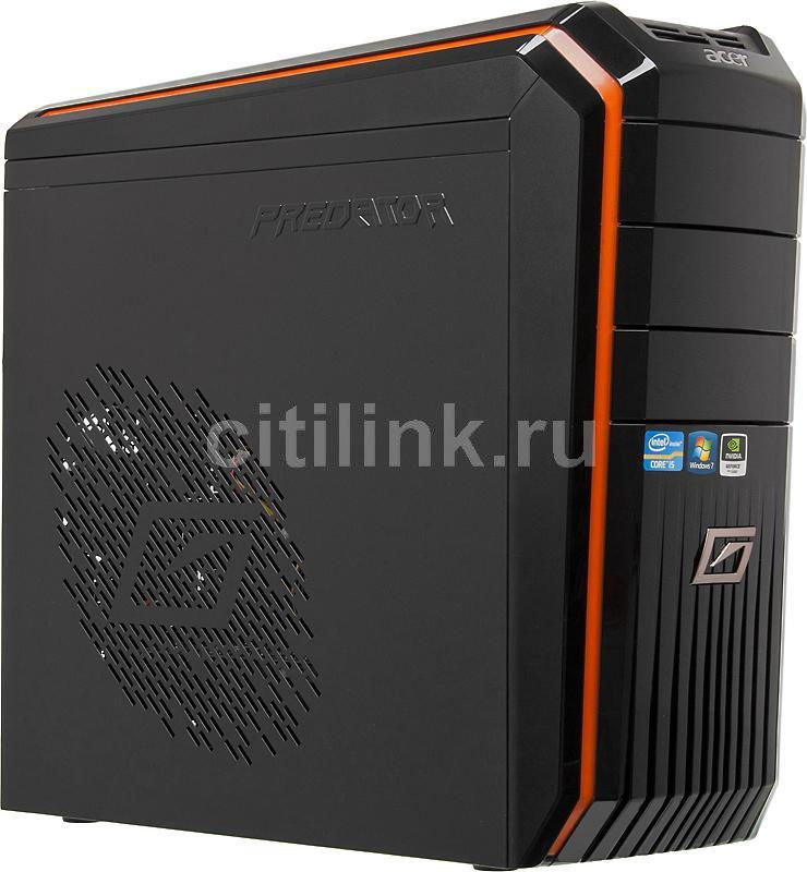 Компьютер  ACER Aspire Predator G3610,  Intel  Core i5  2300,  DDR3 4Гб, 1Тб,  nVIDIA GeForce GTX 550Ti - 1024 Мб,  DVD-RW,  CR,  Windows 7 Home Premium,  черный и оранжевый [pt.sg6e2.173]
