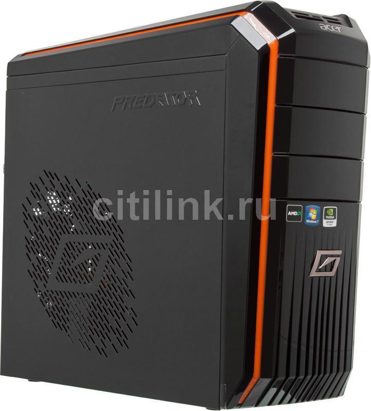 Компьютер  ACER Aspire Predator G3100,  AMD  Phenom II X6  1065T,  DDR3 6Гб, 1000Гб,  nVIDIA GeForce GTX 560Ti - 1280 Мб,  DVD-RW,  CR,  Windows 7 Home Premium,  черный и оранжевый [pt.sfwe2.057]