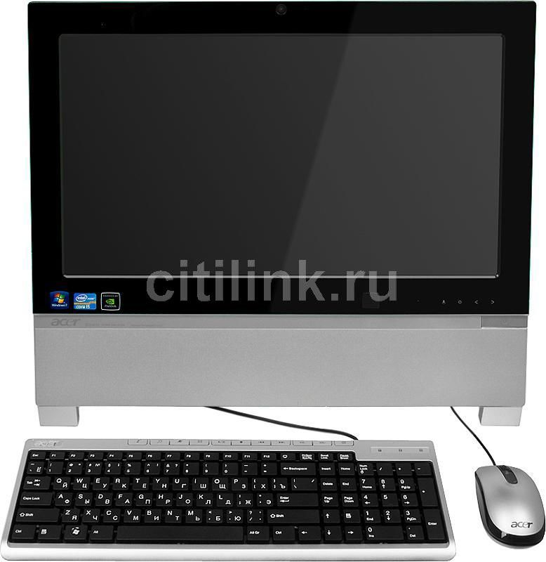 Моноблок ACER Aspire Z3760, Intel Core i5 2400s, 4Гб, 500Гб, nVIDIA GeForce GT520 - 1024 Мб, DVD-RW, Windows 7 Home Basic, черный и серебристый [pw.sgze1.007]
