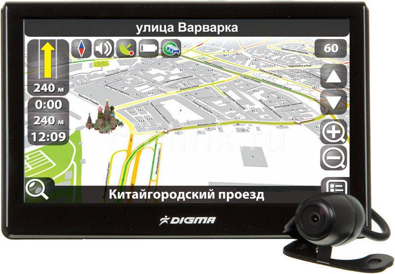 GPS навигатор DIGMA DM500B (+ камера заднего вида),  5